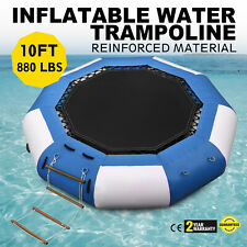10Ft Inflatable Water Bounce Water Trampoline Platform Jump Floated+Ladder