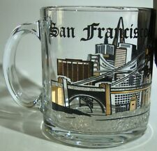 Vintage Made In USA San Francisco California Souvenir 12 Fl Oz Clear Glass Mug