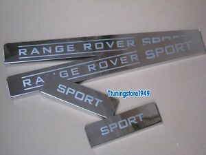 Door sill scuff plate Guards chrome For Land Range Rover sport 2011 2012  2006+