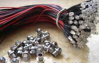 1pcs 5mm Blue 9v-12V Car/Boat Pre-wired LED Bulb + Metal Holder Bezel,5HB