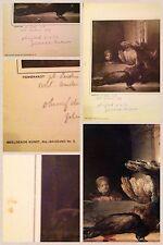 DEAD PEACOCK AND A GIRL Rembrandt Lithograph Beeldende Kunst, 6de Jaargang No.5