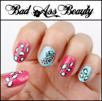 Leopard  Cheetah Print Spots 3D Nail Art Stickers UV Acrylic Decals Decorations