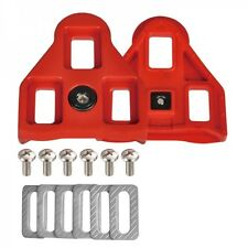 New Wellgo RC-5 RC5 Road Pedal Cleats Set Look compatible ARC Float 9 Degree Red