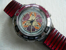 1996 Aquachrono swatch watch Red Snapper SBM105 Never worn