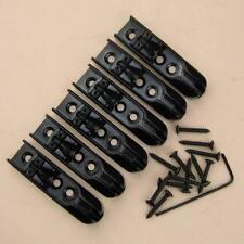 Black Adjustable 6 Strings Bass Guitar Bridge INDIVIDUAL w/ Screws High Quality