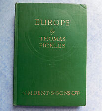 Europe by Thomas Pickles vintage 1940s Geography text book secondary school WW2