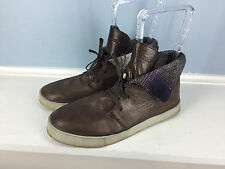 Royal Elastics Brown Leather Lace Up Ankle Boot casual 8.5 chukka Anthropologie