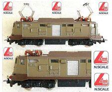 LIMA 202 VINTAGE LOCOMOTORE E424-143 FS MOTORE CENTRALE GANCI OCCHIELLO SCALA-N