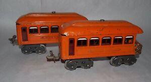 Lionel Prewar O Gauge 603 & 604 Early Passenger Cars! PA