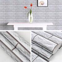 3D Wallpaper Brick Home Decor Living Room Wall Sticker Paper Roll Self Adhesive