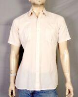 vtg 60s 70s Arrow Sportswear Rockabilly Tan Fleck Pattern SS Shirt Button Down M