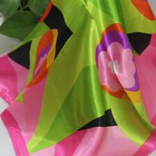 Vintage Elegant Designs Silk Satin Feel Ladies Small Square Head / Neck Scarf 56
