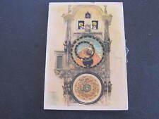 Novelty Mechanical Church Clock Tower Postcard Praha Orlco