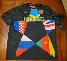 Nike F.C. Soccer Jersey Black International World Cup Mens Size XL $90 Rare NEW
