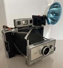 Rare Vintage Polaroid Instant Land Camera Model 355, Case & Flash & Instructions