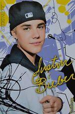 JUSTIN BIEBER - Autogrammkarte - Autograph Autogramm Fan Sammlung Clippings