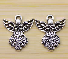wholesale:10/30/100 pcs Very beautiful Tibet silver wings charm pendant 27x23 mm