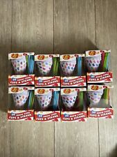 8 Boxes Jelly Belly Snow Cone Disposable Cups And Spoon Straws Multicolor