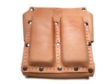 5 Pocket Box Shaped Tool Pouch USA Made Top Grain Saddle Leather
