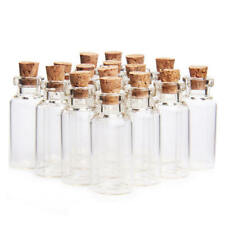 Pack of 10 Mini Clear Vial Glass 5ml Bottles & Cork Stop. Home Weddings Perfume