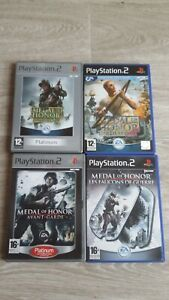 playstation 2 medal of honor lot 4 jeux soleil levant 1er ligne faucon fr tbe cd