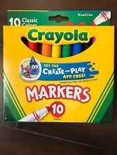 Crayola Markers, Broad Line, Classic Assorted Colors, 10/Pack (Cl58-7722)