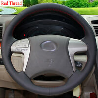 New DIY Sewing-on PU Leather Steering Wheel Cover Exact Fit For Toyota Camry