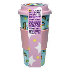 Unicorn Coffee Travel Mug Spill-Proof Tea Drink Eco Cup Easy Grip Lid Non-leak