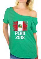 Peru 2018 Shirt Off Shoulder Peru Soccer Shirt 2018 Peru Flag From Peru