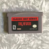 GBA Dr. Mario Puzzle Game NES Classics Nintendo Gameboy Advance Cleaned & TESTED