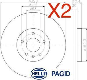 Front Brake Discs 320mm fits Audi A5 8F7 3.0 TDI quattro 2.0 TFSI 3.2 FSI
