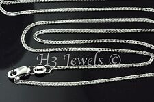 1.90 gram 18k solid white gold foxtail wheat chain necklace 18 inch fox tail #97