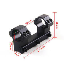 25.4mm One Piece Rifle Scope  11mm Dovetail Mount Dual Ring Long 100mm Rail