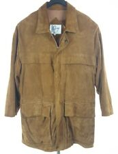 REMY Mens Brown Suede Leather Zip Front Field Jacket Size 38 VTG USA