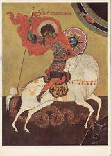 Arte antiguo tarjeta postal-hl. la Georg victoria ricos