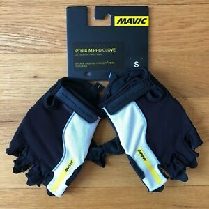 New Mavic Ksyrium Pro Short Finger Cycling Glove Black Small Road Gravel Bike
