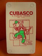 CUBASCO : PUZZLE EDUCATIF CUBES - CIRQUE VINTAGE CLOWN MAGICIEN DOMPTEUR CIRCUS