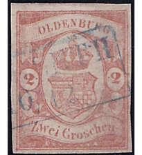 Oldenburg Nr. 13 gestempelt geprüft