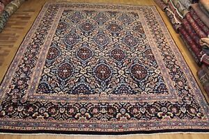 An Outstanding Hand Made Persian Blue Carpet with Great Design 385 x 310 cm