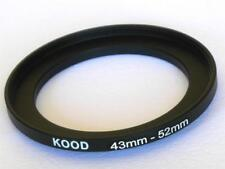 STEP UP ADAPTER 43MM-52MM STEPPING RING 43MM TO 52MM 43-52 FILTER ADAPTER