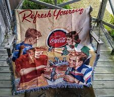 "Coca-Cola  ""Refresh Yourself"" Woven Blanket - PERFECT FOR WINTER"
