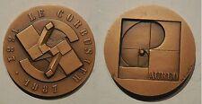 medaglia Le Corbusier 1887 1987 Aureo inc. Giò Pomodoro