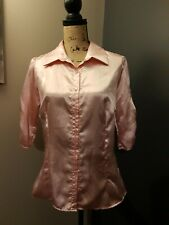 Pink Satin Ladies Top Size Large BY body Central