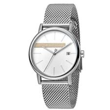ESPRIT Mens Watch Watches Quartz Analogue Timber Silver Mesh RRP £109 UK