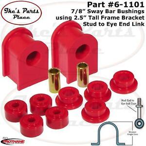 "Prothane 6-1101 Frt or Rr 2.5"" Tall - 7/8"" Sway Bar & Eye End Link Bushing Kit"