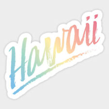Hawaii Color Vinyl Decal Macbook Laptop Window Glass Quote Sticker