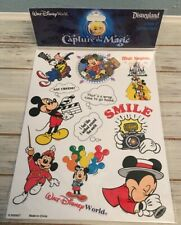 NEW & SEALED * DISNEY PARKS CAPTURE THE MAGIC 2 SHEETS ACID FREE STICKERS *