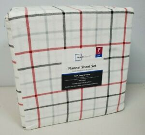 Mainstays Flannel Sheets Size Full Soft, Cozy, Warm 100% Cotton Brushed