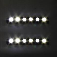 12V 2 Stk Xenon Weiß Universal Weiss 6 LED Tagfahrlicht DRL Nebel Tage Auto Car