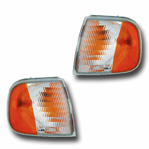 FIT FOR 1999 - 2003 FORD F-150 CORNER LIGHTS RIGHT AND LEFT SIDE PAIR